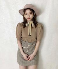 felt ribbon hat