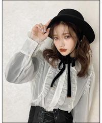 【Autumn 36】 sheer frill blouse