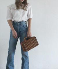 frill color blouse(S19-01123K)-WHT.SOL/F