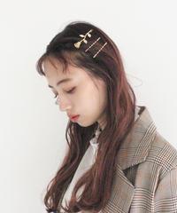 rose set hair pin (A19-10117K)