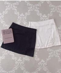 satin slit mini skirt (2colors)