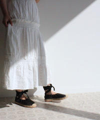 lace up espadrille (S19-07014K)