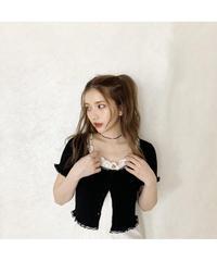《LAST 2》lace frill mini cardigan (cg00038)