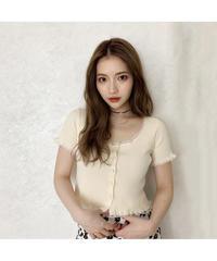 lace frill mini cardigan (cg00038)