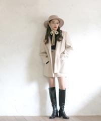 wool flap pocket jacket & skirt(A19-05036K)
