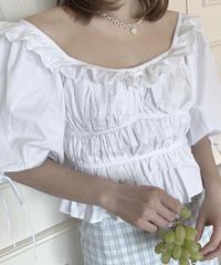 frill shirring blouse