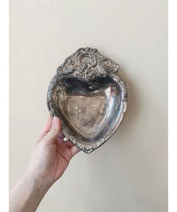 vintage silver Heart plate