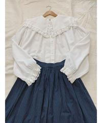 used euro stripe skirt