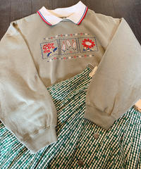 used  embroidery flower sweat