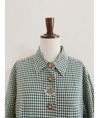 used euro check blouse
