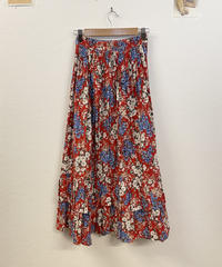 天気がいい日の花柄スカート2691