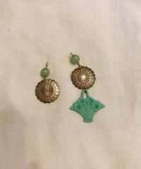 mou bouquet green ピアス/イヤリング