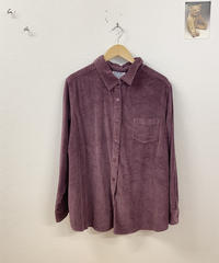 corduroy shirt (purple)4037