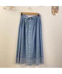 空とお花のスカート638