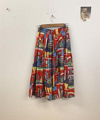 パリの街並みスカート4159