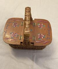 お花畑のカゴバッグ0195
