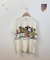 牧場で遊ぶアニマルTシャツ3487