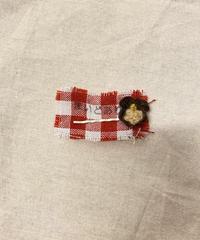 毎度ありー 手編みのヘアピン