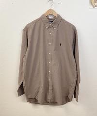 poloのミルクココアのチェックシャツ2805