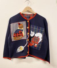 おめかししてお出かけする猫のジャケット1932