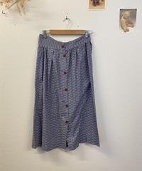 レトロな小花柄スカート1069