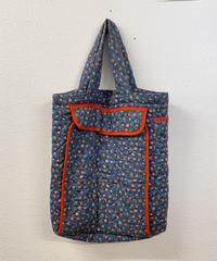 小花柄のキルティングバッグ0256