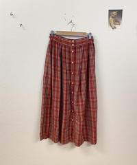 キイチゴのチェック柄スカート3826