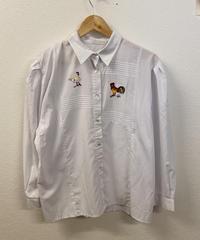 目覚めが早いニワトリのシャツ1556