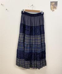 パッチワークのティアードスカート3225