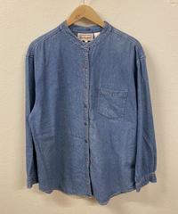 シンプルが好きなノーカラーシャツ1629