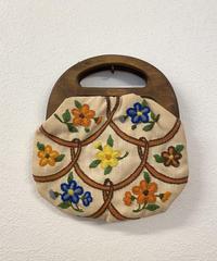 お花の刺繍バッグ0345