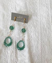 schlicht  green accessory イヤリング/ピアス