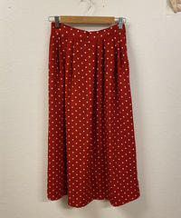 イチゴスムージーのドット柄スカート1649