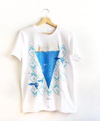 水族喫茶のクリームソーダTシャツ ホワイト(一点物)