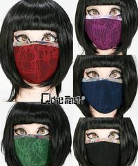 QutieFrash/キューティーフラッシュ 7756-AC ファッションマスク(ブークレ×和柄パイピング)
