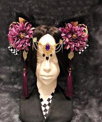 Estrellas/エストレージャス 猫神様クリップ 黒紫