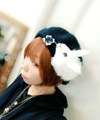 Coco&Ami/ココトアミ  HAT-BE-US-BK2609 飴ージング!ウサギダーマン/ベレー(ブラック)