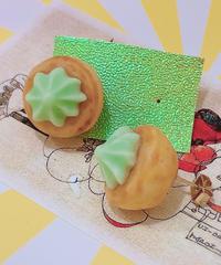 スパイス一匙  お花クッキーの耳飾り(ピアス)28