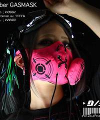 D/3 / ディースリー 『サイバー ガスマスク』 蛍光ピンク(CYBER GASMASK)