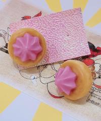 スパイス一匙 お花クッキーの耳飾り(ピアス)30