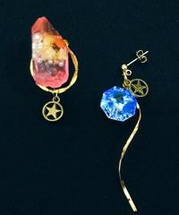伴蔵装身具屋/ばんぞうそうしんぐや  魔鉱石と星屑の耳飾り(ピアス) 97