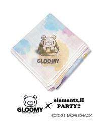 elementl,H/エレメンツ,アッシュ ガーゼハンカチ(子グル~ミ~Ver.)【グル~ミ~×elements,H PARTY!!】