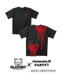 elementl,H/エレメンツ,アッシュ ゆるTシャツ(ハートVer.)【グル~ミ~×elements,H PARTY!!】