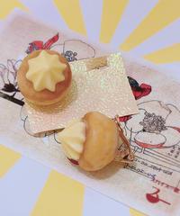 スパイス一匙 お花クッキーの耳飾り(イヤリング)31