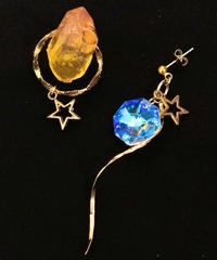 伴蔵装身具屋/ばんぞうそうしんぐや 魔鉱石と星屑の耳飾り(ピアス)102