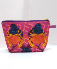 hellbent lab./ヘルベントラボ  mini pouch(カニ顔婦人の肖像)