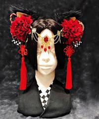 Estrellas/エストレージャス 猫神様クリップ 黒赤