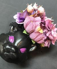 Pantom Jewelry/ファントムジュエリー 黒猫のコサージュ パープル系