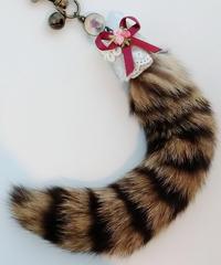 魔界ノ風鷹 K101-1 ネコのしっぽキーホルダー(リボン1)