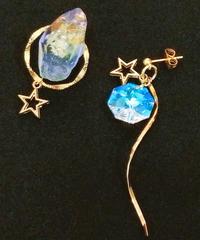 伴蔵装身具屋/ばんぞうそうしんぐや 魔鉱石と星屑の耳飾り(ピアス) 98